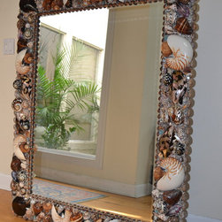 Seashell mirror for the Busches , Boca Grande and two seashell chandeliers - Heather Kendall