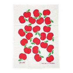 Koloni Stockholm - Lotta Kühlhorn Gunilla Apples Tea Towel - Designed and printed in Sweden, this pretty tea towel will add that Scandinavian touch to your kitchen.
