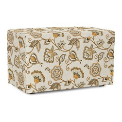 Howard Elliott - Avignon Universal Bench Cover - The Universal Bench in Avignon is a great addition to any room. A traditional pattern in an updated color story. Velcro fasteners and tailored design make it so you would never know this piece is slipcovered. Cleaning and updating is a breeze, change your look on a whim with new covers!