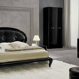 Made in Italy Leather High End Bedroom Sets with Extra Storage - Glamorously designed black lacquered bedroom set magic. The stunning Magic Bedroom Set from Camelgroup (Italy), ESF Furniture Platform Bed, two Night Stands, Double Dresser, and Mirror. If you are using regular mattress or futon mattress with no box-spring, you would need to get mattress support (set of wooden slats that go across the bed to hold the mattress).
