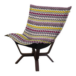 Howard Elliott - Howard Elliott Bolt Eggplant Milan Puff Chair - Milan puff chair bolt eggplant