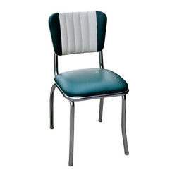 Richardson Seating - Richardson Seating Retro 1950s Two Tone Channel Back Diner Chair - Richardson Seating - Dining Chairs - 4190GRN