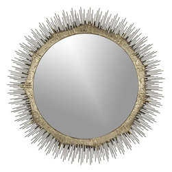 Clarendon Small Wall Mirror - I love the scale of the mirror in this piece. It would be great if you have a beachy vibe in your room, as it has an urchin-under-the-sea look.