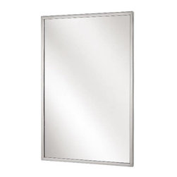 "BRADLEY CORPORATION - Bradley Angle Frame Mirror 18"" x 30"" - Features:"
