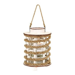 "Benzara - Classic Wooden Glass Rope Extension Lantern and Rustic Finish - Classic Wooden Glass Rope Extension Lantern and Rustic Finish. These little wooden and rope lanterns will add a rustic look to your home decor and their charming design. It comes and a dimension of 12""H x 8""W x 8""D."