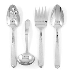 Ginkgo Oakleaf Stainless Hammered Finish Flatware Hostess Set - Set of 4 - About Ginkgo International LtdGinkgo International Ltd. was founded in 1977 by Wes and Janet Helmick. Their goal was to bring to the market original quality flatware designs at the best possible price. Now a second generation family business Ginkgo continues to offer consumers the highest quality flatware and cutlery products at the best possible value.