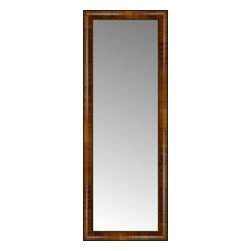 """Posters 2 Prints, LLC - 16"""" x 42"""" Belmont Light Brown Custom Framed Mirror - 16"""" x 42"""" Custom Framed Mirror made by Posters 2 Prints. Standard glass with unrivaled selection of crafted mirror frames.  Protected with category II safety backing to keep glass fragments together should the mirror be accidentally broken.  Safe arrival guaranteed.  Made in the United States of America"""
