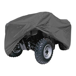 None - Oxgord 5-Layer Waterproof ATV Cover for Any Sized All Terrain Vehicles - Use this waterproof ATV cover to protect your off-road vehicles when not in use. Available in four sizes, this polypropelene ATV cover includes convenient features such as an elastic pull string and antenna patch to make storing your vehicle easier.