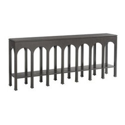 Stanley Furniture - Crestaire-Brooks Console Table - The Brooks Console stands tall as an iconic, inspired design.