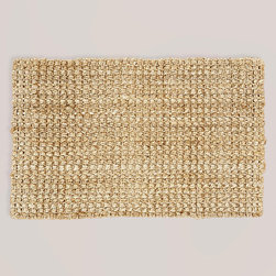 Plain Weave Jute Rug - I always like to freshen up doormats, kitchen sink rugs and bath areas before the holiday season heats up. This mat is inexpensive and will add some nice texture.