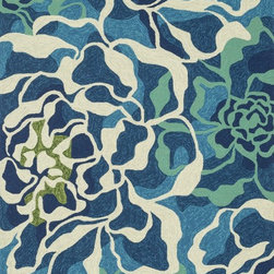 """Loloi Rugs - Loloi Rugs Ventura Collection - Aqua/Multi, 7'-6"""" x 9'-6"""" - Set the foundation for a beautiful outdoor arear with the well-designed Ventura Collection.  Hand-hooked in China of 100% polypropylene, Ventura's fresh geometric patterns and bright, on-trend colors will immediately update your patio or poolside with can't-miss style.  Each Ventura rug is specially treated to withstand UV rays, rain, mold, and mildew, so it'll remain bold and bright no matter what weather nature brings."""