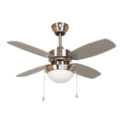 Yosemite Home Decor - 36 Inch Ceiling Fan in Bright Brushed Nickel Finish with 72 inch Lead Wire - Features: