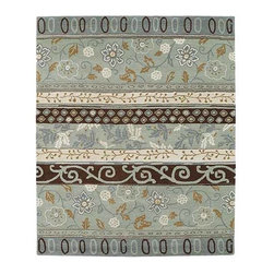 Kaleen Rugs - Taj Mint TAJ01 Rectangular: 5 Ft. x 7 Ft. 9 In. Rug - - The Taj collection is inspired with classic style and traditional patterns that mix beautifully with today's formal, casual, and transitional decor to complete a forever timeless masterpiece.  - Hand-tufted in India of Wool.  - Soft Velvet Finish  - Hand Serged and Hand Finished  - Space Dyed Yarns For Added Texture    - Pile Height: 1/3 Inch  - Spot clean as needed or for best results please contact your local area rug cleaning professional. Kaleen Rugs - TAJ01-88-579