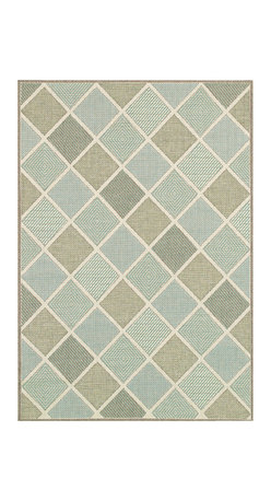 """Couristan - Monaco Meridian Rug 2470/2007 - 5'3"""" x 7'6"""" - Perfect for an outdoor patio, deck or sunroom, the Monaco Collection is designed to convert your space to the perfect at-home escape. Pair one of these performance area rugs with your outdoor furniture to enhance any look. The subtle designs and neutral hues found in Monaco are sure to bring a relaxed ambiance to any room or space of your liking."""