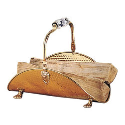 """Renovators Supply - Fireplace Accessories Brass Fireplace Log Holder 