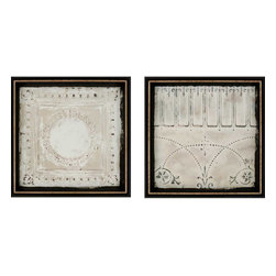 Paragon - Ceiling Tiles PK/2 - Framed Art - Each product is custom made upon order so there might be small variations from the picture displayed. No two pieces are exactly alike.
