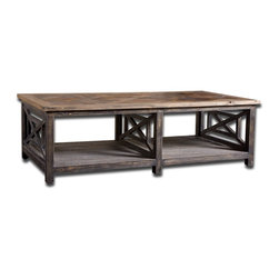 Uttermost - Natural Wood Spiro Cocktail Table - Natural Wood Spiro Cocktail Table