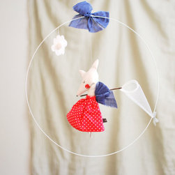 Mme Cloud Catcher Mobile - How lovely is this sweet felt mouse? I would add it to my work space, as it's sure to inspire me!