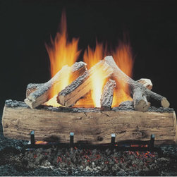 "HARGROVE MANUFACTURING - 18"" Hargrove Seasoned Split Oak, Vented, Gas Logs Only, RGA 2-72 Approved - 18"" Hargrove Seasoned Split Oak, Vented, Gas Logs Only, RGA 2-72 Approved, Fits Fireplaces Of Minimum 16""h X 34""w X 13""d"