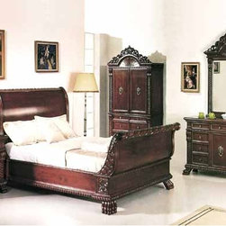 Yuan Tai Furniture - Bailey Eastern King Bed - 1802K - Solid Hardwoods and wood veneers