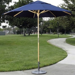 Dayva - Dayva Catalina Wood 9' Octagon Single Pole Umbrella - This traditional market umbrella bursts with the vibrant hues of Sunbrella fabrics for its nine foot canopy. The solid one-piece pole ribs and housing are all crafted of solid hardwoods. The canopy is raised manually and secured with a heavy gauge pin. This is a commercial grade umbrella in every sense of the term. It is sturdy it is ruggedly constructed and it has a natural finish which only adds to the beauty of this umbrella. Dayva has grown rapidly into a leading worldwide supplier of market umbrellas umbrella lighting protective outdoor furniture covers patio heaters indoor/outdoor wood furniture and decorative outdoor accessories. With extensive experience with retailers from single store operations to national chains Dayva's reputation for high quality products at reasonable prices combined with outstanding service remains unchallenged.