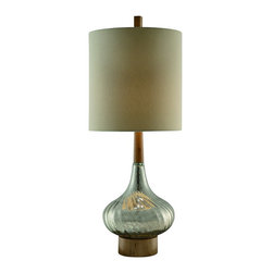"Crestview - Crestview CVABS679 Flash Back Table Lamp 36.5""Ht. - Flash Back Table Lamp 36.5""Ht.   36.5""Ht., 14 x 14 x 15 Tan Linen Shade"