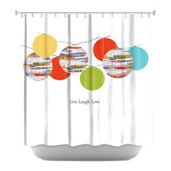 DiaNoche Designs - Shower Curtain Artistic - Lanterns - DiaNoche Designs works with artists from around the world to bring unique, artistic products to decorate all aspects of your home.  Our designer Shower Curtains will be the talk of every guest to visit your bathroom!  Our Shower Curtains have Sewn reinforced holes for curtain rings, Shower Curtain Rings Not Included.  Dye Sublimation printing adheres the ink to the material for long life and durability. Machine Wash upon arrival for maximum softness. Made in USA.  Shower Curtain Rings Not Included.