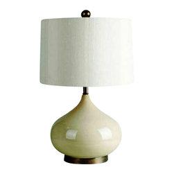 Bassett Mirror - Maddox Crackled Ceramic Table Lamp - Maddox Crackled Ceramic Table Lamp Bassett Mirror