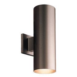 Progress Lighting - Progress Lighting P5675-20 2-Light Wall Lantern Metal Shade - Progress Lighting P5675-20 2-Light Wall Lantern Metal Shade