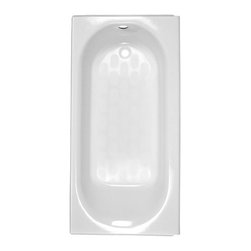 American Standard - American Standard Princeton Integral Apron Bath with Luxury Ledge (2395.202.020) - American Standard 2395.202.020 Princeton Integral Apron Bath with Luxury Ledge and Right Hand Outlet, White