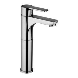 Modo Bath - Red 071.120 Bathroom Faucet without Pop Up Waste - Red 071.120 Tall Single Lever Bathroom Faucet without Pop-up Waste