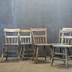eclectic dining chairs and benches by Factory 20