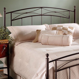 Hillsdale Furniture - Morris Headboard in Magnesium Pewter Finish ( - Choose Size: KingPremium 5-leg with large glides for full/queen. Premium 6-leg with large glides for king. Constructed of heavy gauge tubular steel. Minor assembly required. Full/queen: 60 in. W x 52 in. H. King: 76 in. W x 52 in. H. Frame: 83.5 in. L x 78 in. WA unique combination of traditional and transitional elements, Hillsdale Furniture's Morris bed marries a classic silhouette with a modern motif, straight spindles, and a gently shaped finial. This bed is adaptable enough for any bedroom in your home.