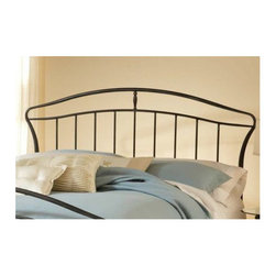 "Hillsdale - Denmark Metal Headboard - The strong, clean, vertical lines of the Denmark Bed's headboard are softened by their arched tops. To add a little whimsy, the overall silhouette features bowing sides and curved corners. This bed is sure to be a hit in any room. Features: -Denmark colletion. -Strong, clean, vertical lines. -Arched tops on headboard. -Bowing sides and curved corners. Dimensions: -Twin: 50"" H x 44.75"" W x 2"" D, 12 lbs. -Full / Queen: 50"" H x 66.75"" W x 2"" D, 13 lbs. -King: 50"" H x 82.25"" W x 2"" D, 17 lbs."
