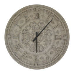 "Corinthian Clock an Ancient Greek and Rome Old-fashioned style Clock, 34"" H -"