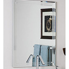 Bathroom Mirrors Frameless Tri-bevel Wall Mirror