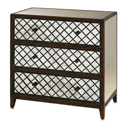 Currey and Company - Currey & Co Sabrina Three Drawer Chest, Large - This 3 drawer chest is great for storage as well as being a showstopper in any room. For a larger size, see item 4334.