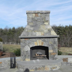 Building Stone - This Lake George building stone is a great choice for an outdoor fireplace. Complete your patio today! Add to your ideabook to show this off! | Rockville, MD | Irwin Stone