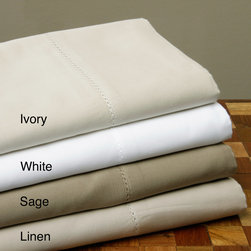 None - Luxury Cotton 600 Thread Count Sheet Set - Treat yourself to a great night's sleep with this luxurious 600 thread count sheet set woven from fine cotton sateen. Available in colors to match any decor, this set includes a fitted sheet with deep pockets to fit up to an 18-inch mattress.