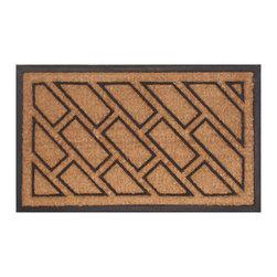 Imports D̩cor - Offset Brick Door Mat (ID721RBCM) - Offset Brick