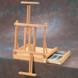 """Alvin - Alvin HERITAGE Box Easel Multicolor - HWE417 - Shop for Art Easels from Hayneedle.com! This very functional high-quality table easel is crafted of oiled beech wood. It features a handy drawer that slides out to one side to keep supplies within arm s reach. Drawer is lined with aluminum for easy cleanup and also features adjustable compartments. Top and bottom canvas holders both telescope for maximum flexibility. Also adjusts to various painting angles. Holds canvases up to 33"""" high. Overall measurements: 15"""" x 16"""" x 5""""."""