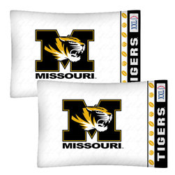 Store51 LLC - NCAA Missouri Tigers Football Set of Two Pillowcases - Features: