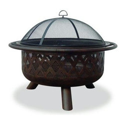 "Blue Rhino - Outdoor Firepit With Criss-Cross Design 32"" - Uniflame WAD792SP 32"" Outdoor Firepit with Criss-Cross Design"