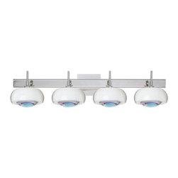 Besa Lighting - Besa Lighting 4SW-2634CD-SQ Focus 4 Light Bathroom Vanity - Features: