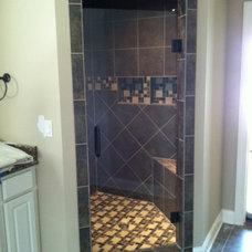 Modern Shower Doors by Ankeny Glass