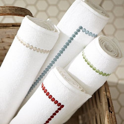 Pearl Embroidered Bath Rug - A bath rug makes your bathroom feel much more like a spa than a heavily trafficked room in the house.