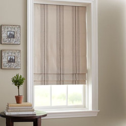French Stripe Cordless Roman Shade