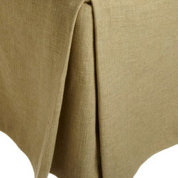 MysticHome - Layla - Bed Skirt by MysticHome, Twin - A luxury Jacobean design in mustard, sage green, and brown, the Layla ensemble transforms the bedroom into an opulent, colonially-inspired boudoir.  The Layla reflects a light, airy feel through a muted sag- and-gold palette and the graceful mix of cotton and linen.