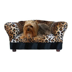 Fantasy Furniture Mini Sofa Pet Bed - As cute as it is comfy, your little pup is going to love the Fantasy Furniture Mini Sofa Pet Bed. Maybe it's the mini sofa shape or the wild animal pattern choices, but this mini pet bed is adorable. It's hand-crafted of solid wood, features a dense yet comfortable foam core, and is upholstered in faux fur fabric. This mini sofa is designed for breeds up to 15 pounds.About Fantasy FurnitureFantasy Furniture has been dreaming up high-quality, family-friendly products since 1999. This company is based in San Diego, California. They're dedicated to bringing fun and beauty into the family home. Fantasy Furniture specializes in creating well-crafted and beautifully-designed furniture that's loaded with personality. Furniture for your pets, your kids, and you!