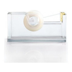 Acrylic & Gold Tape Dispenser - Forget about the boring black tape dispenser, this acrylic and gold one will add a touch of glamour to your desk.